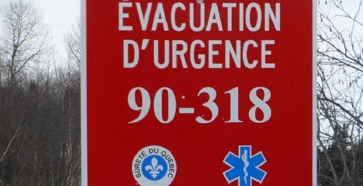 Bornes d'évacuation d'urgence en milieu forestier